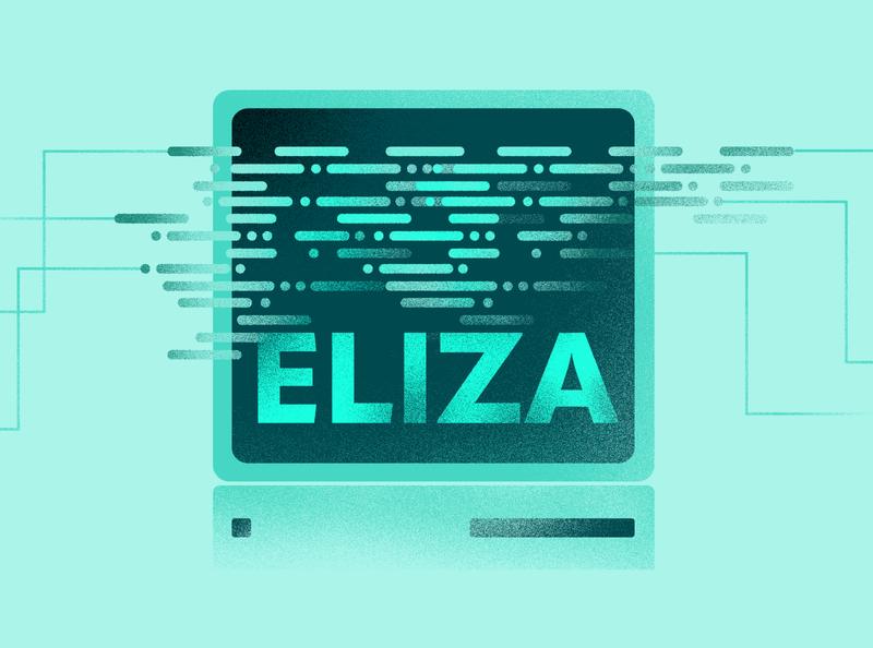 AI Programming texture company illustrator drawing kosma design green cyan old computer cover illustration