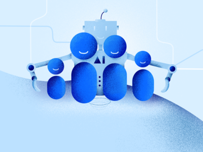 AI Academy school design academy branding mesh kosma poland illustration kids robot ai
