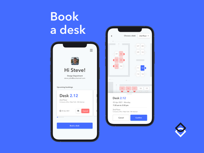 Desk booking app lenar design app design app mockup sketch kosma booking system ui ux desk booking booking app