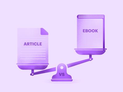 Article vs Ebook