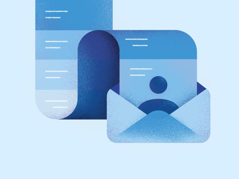 Customer mail app blog polska poland it lenar kosma company design user illustration mail