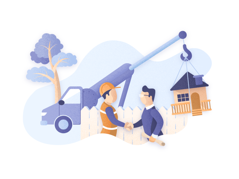 DIY Home Deliveries Illustration domestico futurenaturedesign freelance orange blue homepage design illustrator vectorart illustration delivery home diy