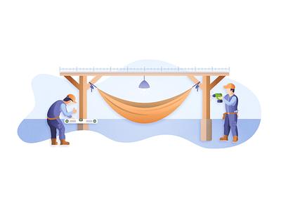 Tools Category Illustration hammock diy home branding vectorart vector illustration freelance futurenaturedesign
