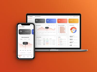 Unio Sales Dashboard app ux design ui design mobile leads freelance files charts collaboration metrics sales dashboard ux ui
