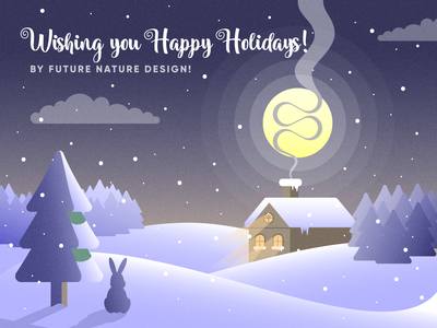 Happy Holidays by Future Nature Design card greetings bulgaria art illustration vector futurenaturedesign new year christmas happy holidays