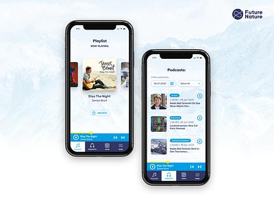 BeO Radio Switzerland - Website & Mobile App mobile app app mobile mountain snow winter bulgaria freelance ui design ui music player webdesign switzerland bern radio