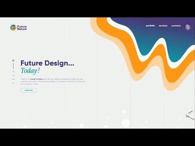 Future Nature Design (Porfolio Redesign) typography animation icon ui logo web design