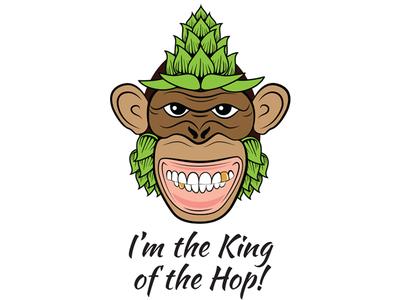 Monkeyhop Dribbble hop king monkey vector illustration
