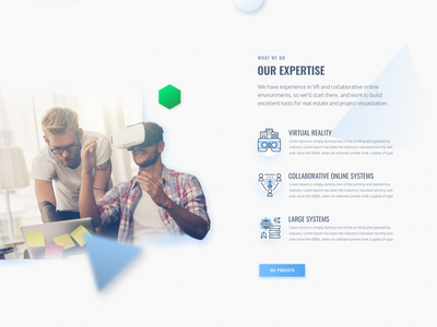 AllBright Designs Homepage parallax clean minimalist architecture reality virtual vr landing page freelance web design