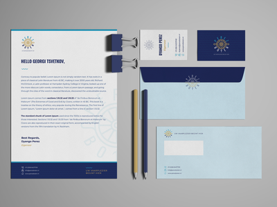 """Perez Boten"" Branding freelance business card logo mockup stationery gold blue branding sailing boats"