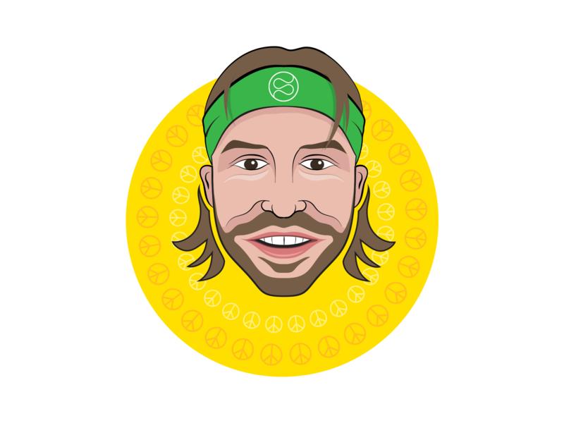 Self-portrait Illustration sofia vectorart art freelance hippie vector illustration avatar self-portrait