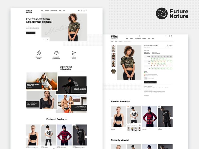 Urban Massives B2B Store blackandwhite black bulgaria freelance ecommerce b2b minimalistic clean streetwear urban fashion ux webdesign