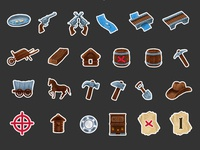 Gold Rush Board Game Icons