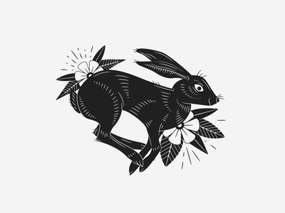 The Hare drawing vector printmaking illustrator design graphic design illustration