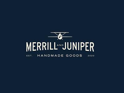 A Secondary Mark for Merrill & Juniper illustrator typography branding logo illustration graphic design