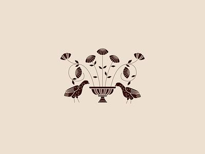 Barcelona Doves & Coneflowers drawing icon vector illustrator design graphic design illustration