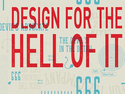 Design Hell graphic design overlay adobe illustrator silkscreen printmaking