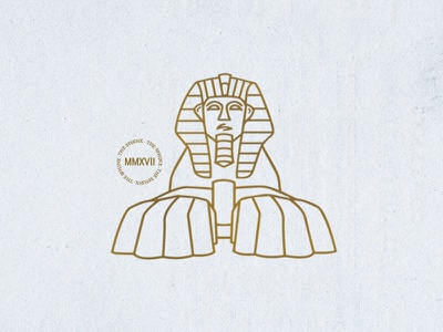 The Sphinx graphic design letterpressed gold design metallic icons logos texture illustration