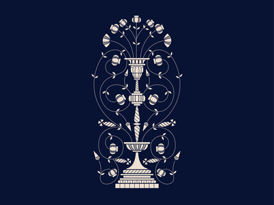 Barcelona Inspired Vase Illustration floral vector illustrator design graphic design illustration
