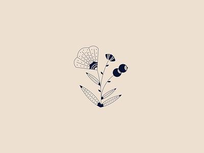 Barcelona Flowers 2 branding stipple vector printmaking texture illustrator graphic design illustration