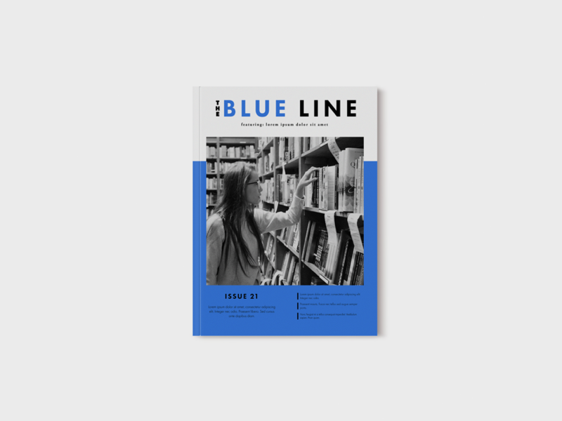 Blue Line Newsletter Cover minimalist minimal book cover newsletter
