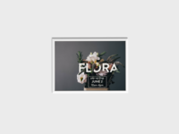 Flora Pop Up Shop Flyer