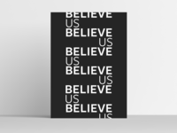 Believe Us Poster Mockup