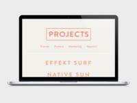 Minimal Portfolio Projects Page  Website Mockup