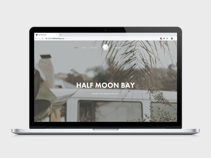 Half Moon Bay Website Concept nature outdoorsy outdoors squarespace website concept website ux ui email design typography logo design logo branding brand identity minimalist simple minimal design minimal