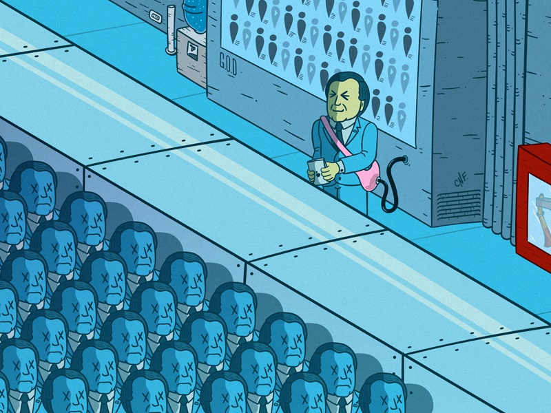 The Pink Bag brazil president blue photoshop texture illustrator illustration ilustração clones bolsa de coco bolso