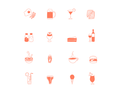 restaurant icons  vector icons food restaurant