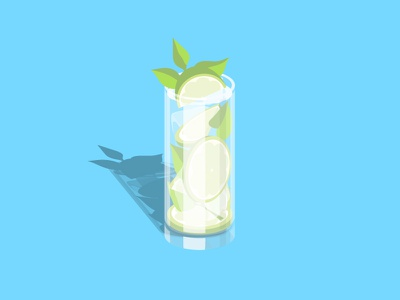 mojito alcohol drink illustration vector mojito