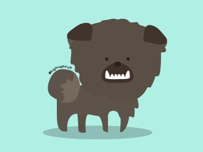 @bigtoughtruff peekapom pomeranian shihtzu mutt puppy diamondho illustration design dog bigtoughtruff