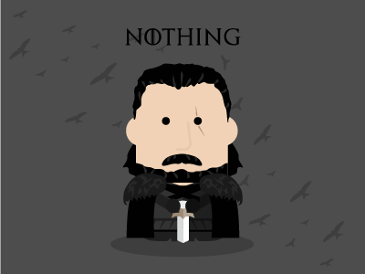 Jon Snow character illustration winteriscoming crows nightswatch youknownothing jonsnow gameofthrones got