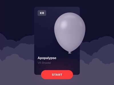 Apopalypse Product Card pet project figma minimalism product design xr oculus quest blender3d card ux design madewithunity unity3d vr game vr design vr game design product card ui ux