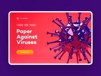 VR Game: Paper Against Vruses webdesign vrdeveloper prototype vrdesigner xr vrgame vr uxdesign ux ui productdesign landing petproject oculusquest minimalism unity3d madewithunity gamedesign figma blender3d
