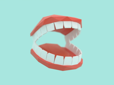 5sec VR Game [Main Character] low poly motion design concept prototype character vr prototype teeth mouth 3d animation animation render cycle unity blender vr game vr