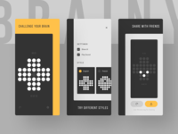 Brainy [App Store Screenshots] app screens screenshots google play app store brainy indie game dev unity 3d ui design ux design minimal minimalist pet project game development game design ui ux
