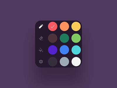 VR Color Picker toolbar vr panel vr editor picker colors icons vr vr design 3d ui render blender 3d 3d icons 3d design color picker ui design ui ux ux design