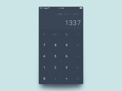 Calculator ios 004 dailyui calculator ux ui