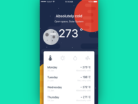 Cosmic weather app