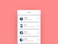 Activity Feed coffee 47 dailyui simple clean notification activity feed modal card ui ux