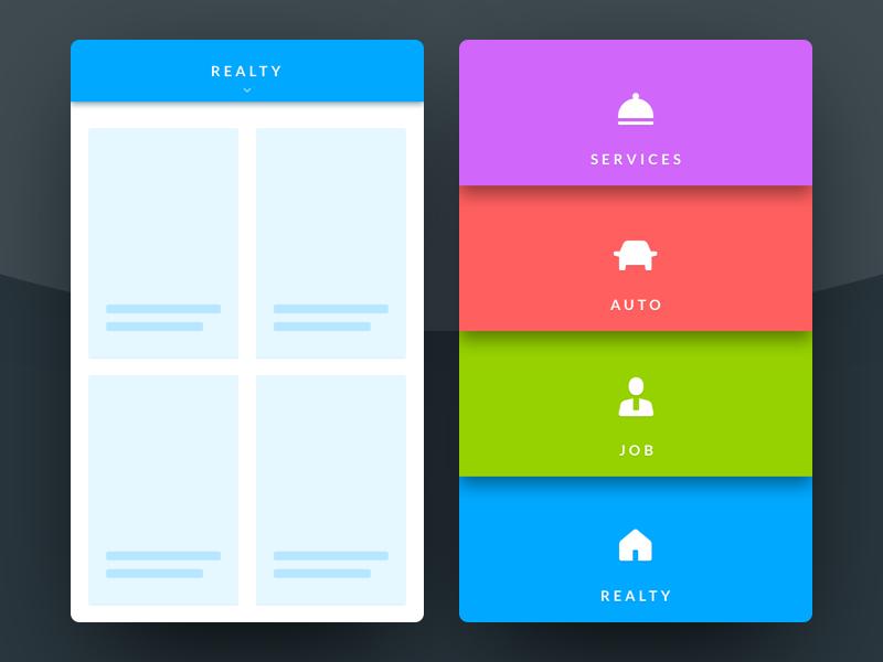 Header navigation bar header 53 nav mobile menu navigation icons concept dailyui ux ui