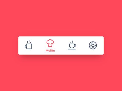 Icon set for bottom navigation