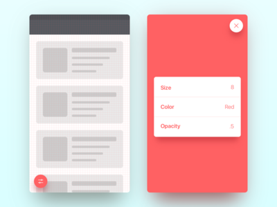 Grid wireframe list table qa testing mobile app component grid tool ui ux