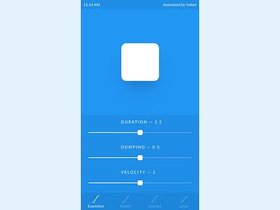 Animatool pet project tools settings easing xcode swift mobile app dumping duration animation slider minimal ios