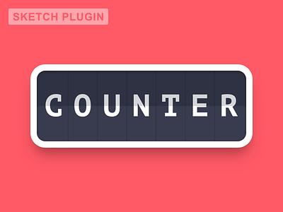 Counter [Sketch plugin] freebie clean simple layer utility text free data counter plugin sketch