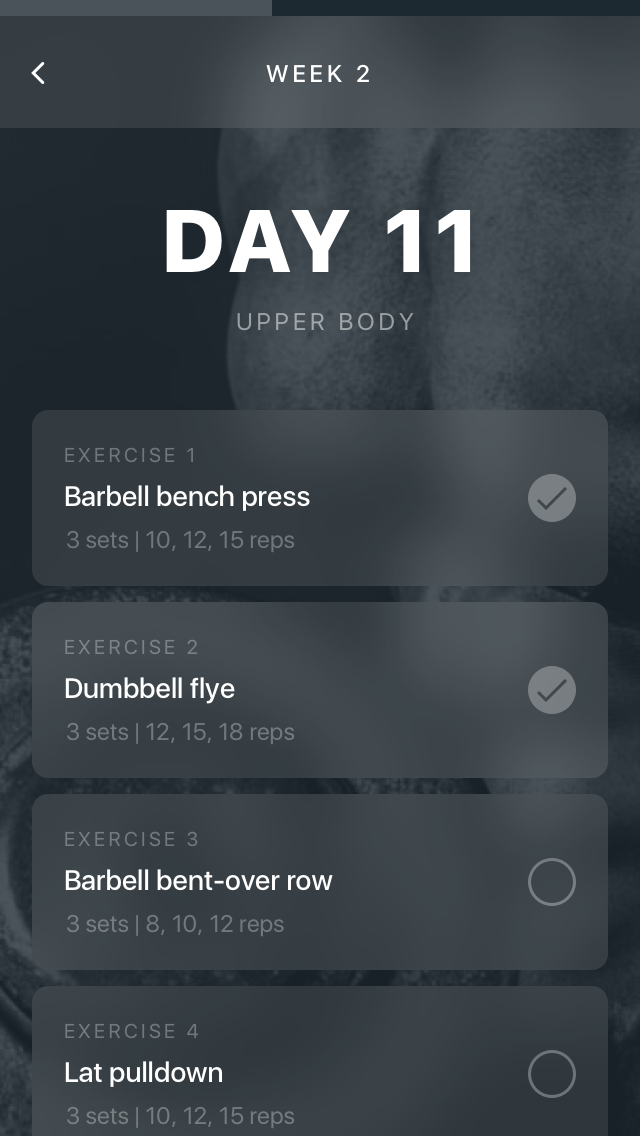 Workout of day screen by volorf 2x