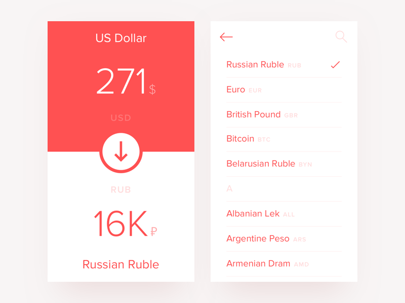 Currency converter app finance money simple clean minimalist material design mobile currency ui ux