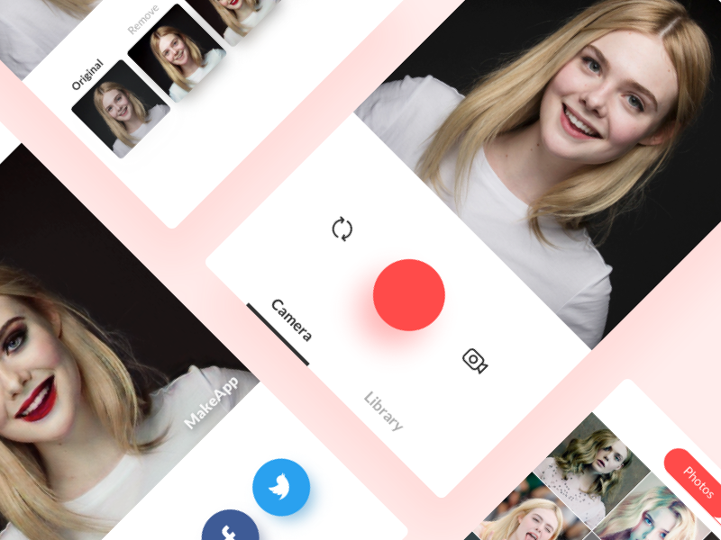 MakeApp 3.0 [AI based photo editor] augmented reality filters makeup photo editor facial recognition mobile camera app machine learning artificial intelligent ui ux